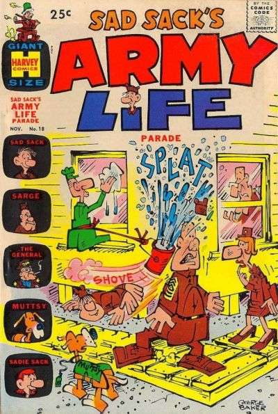Sad Sack's Army Life #18 comic books for sale