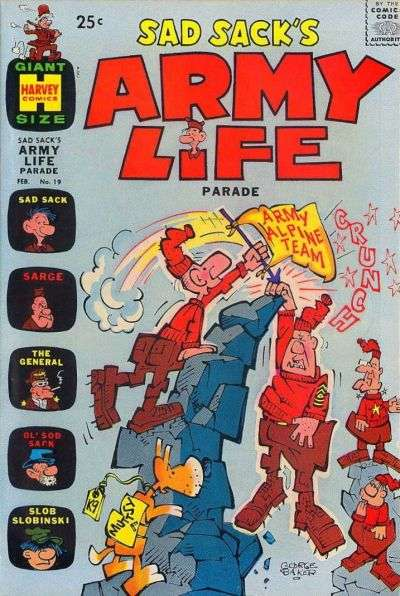 Sad Sack's Army Life #19 comic books for sale