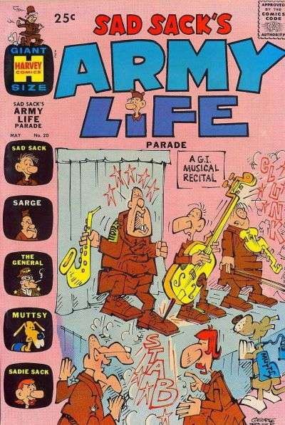 Sad Sack's Army Life #20 Comic Books - Covers, Scans, Photos  in Sad Sack's Army Life Comic Books - Covers, Scans, Gallery