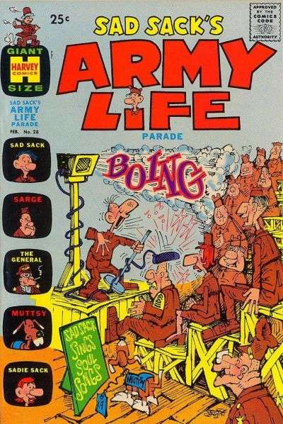 Sad Sack's Army Life #28 comic books for sale