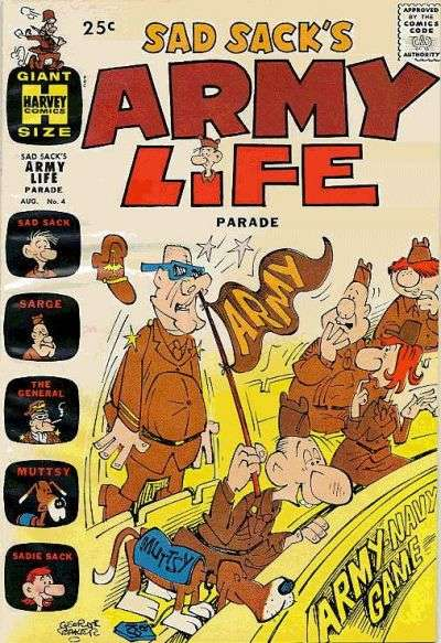 Sad Sack's Army Life #4 Comic Books - Covers, Scans, Photos  in Sad Sack's Army Life Comic Books - Covers, Scans, Gallery