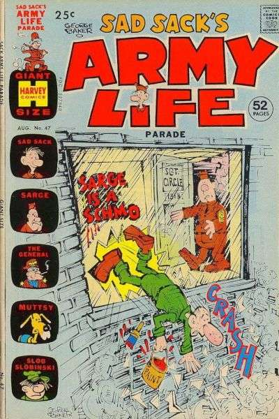 Sad Sack's Army Life #47 comic books - cover scans photos Sad Sack's Army Life #47 comic books - covers, picture gallery