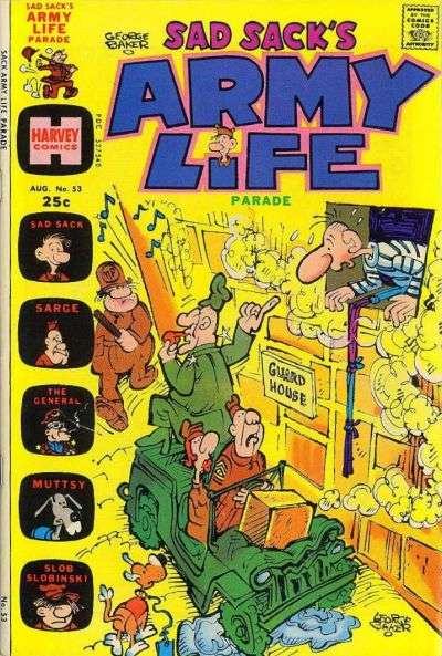 Sad Sack's Army Life #53 comic books for sale