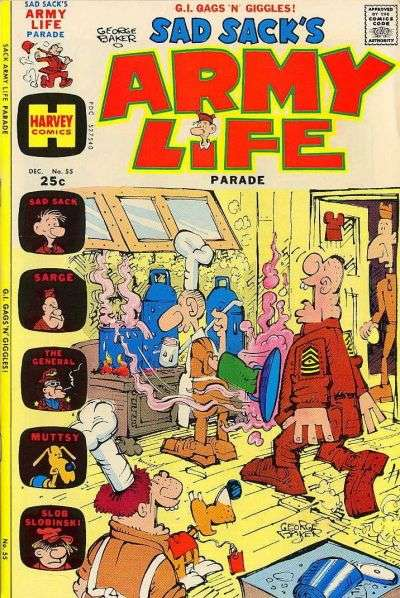 Sad Sack's Army Life #55 comic books for sale