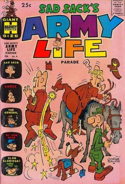 Sad Sack's Army Life #6 comic books - cover scans photos Sad Sack's Army Life #6 comic books - covers, picture gallery