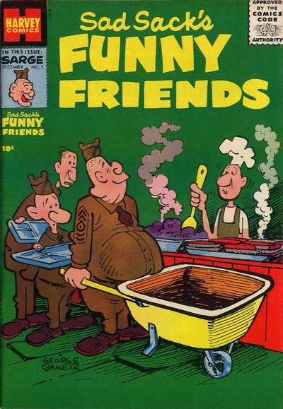 Sad Sack's Funny Friends #7 Comic Books - Covers, Scans, Photos  in Sad Sack's Funny Friends Comic Books - Covers, Scans, Gallery