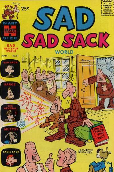 Sad Sad Sack World #21 Comic Books - Covers, Scans, Photos  in Sad Sad Sack World Comic Books - Covers, Scans, Gallery
