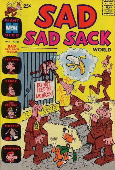 Sad Sad Sack World #25 Comic Books - Covers, Scans, Photos  in Sad Sad Sack World Comic Books - Covers, Scans, Gallery