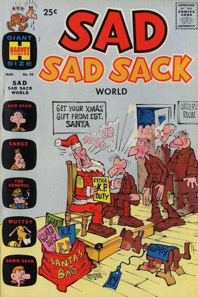 Sad Sad Sack World #30 Comic Books - Covers, Scans, Photos  in Sad Sad Sack World Comic Books - Covers, Scans, Gallery