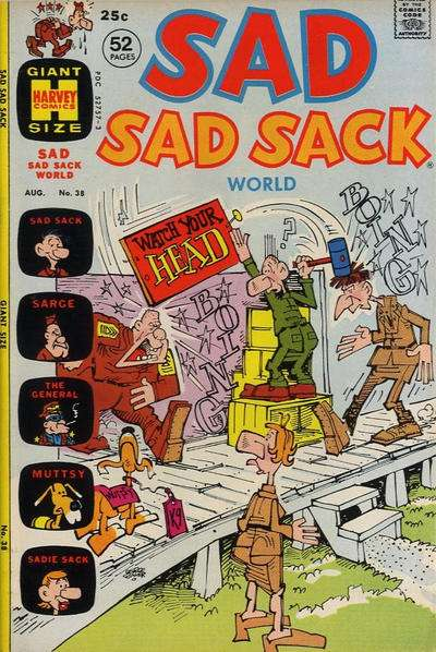 Sad Sad Sack World #38 comic books for sale