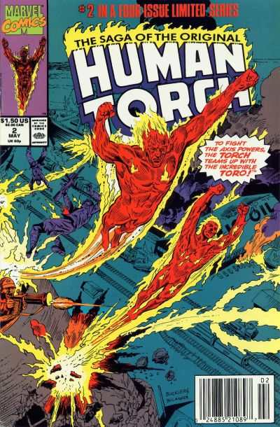 Saga of the Original Human Torch #2 comic books - cover scans photos Saga of the Original Human Torch #2 comic books - covers, picture gallery