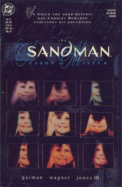 Sandman #25 comic books - cover scans photos Sandman #25 comic books - covers, picture gallery