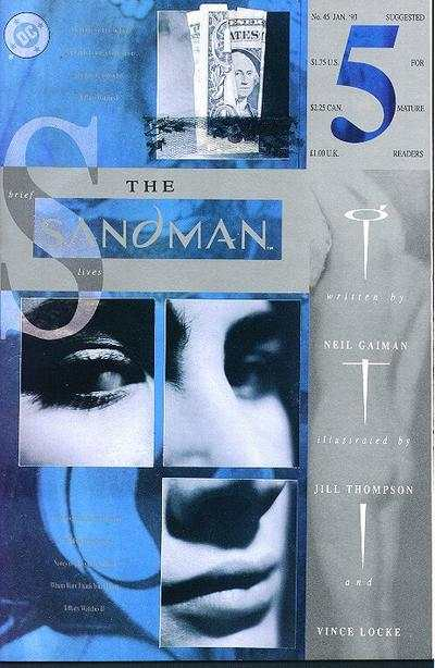 Sandman #45 comic books - cover scans photos Sandman #45 comic books - covers, picture gallery