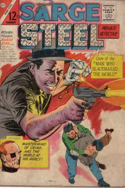 Sarge Steel #2 Comic Books - Covers, Scans, Photos  in Sarge Steel Comic Books - Covers, Scans, Gallery