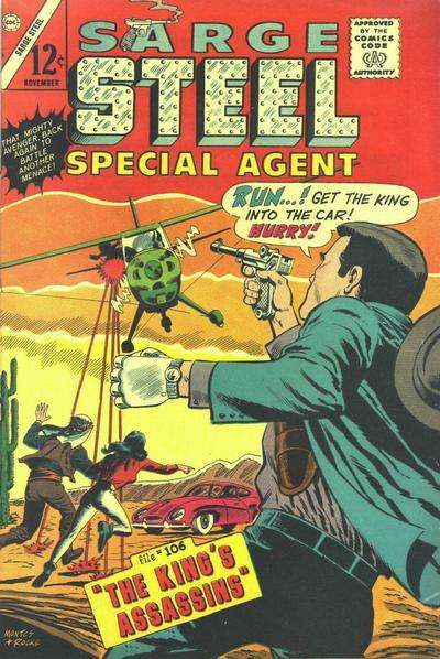 Sarge Steel #6 comic books - cover scans photos Sarge Steel #6 comic books - covers, picture gallery