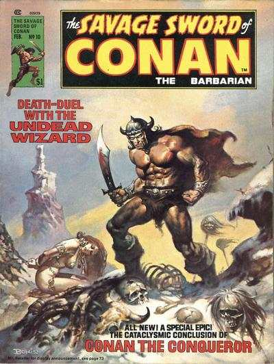 Savage Sword of Conan #10 comic books - cover scans photos Savage Sword of Conan #10 comic books - covers, picture gallery
