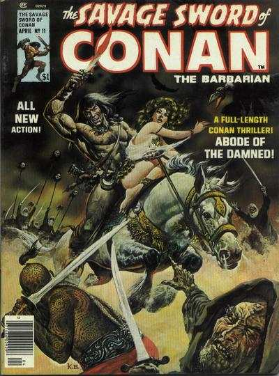 Savage Sword of Conan #11 Comic Books - Covers, Scans, Photos  in Savage Sword of Conan Comic Books - Covers, Scans, Gallery