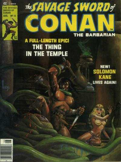 Savage Sword of Conan #13 Comic Books - Covers, Scans, Photos  in Savage Sword of Conan Comic Books - Covers, Scans, Gallery