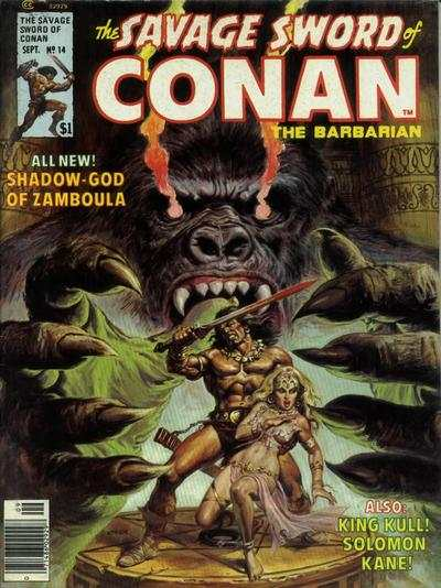 Savage Sword of Conan #14 comic books - cover scans photos Savage Sword of Conan #14 comic books - covers, picture gallery