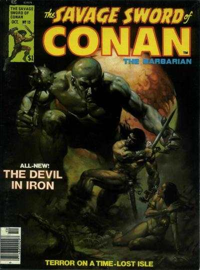Savage Sword of Conan #15 comic books - cover scans photos Savage Sword of Conan #15 comic books - covers, picture gallery
