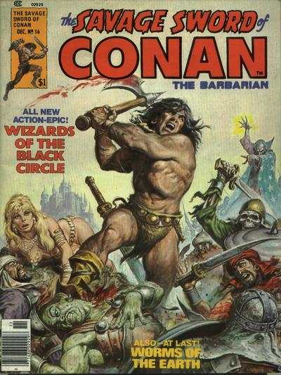 Savage Sword of Conan #16 comic books - cover scans photos Savage Sword of Conan #16 comic books - covers, picture gallery
