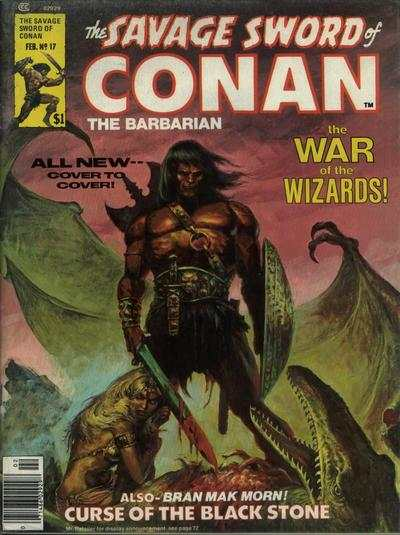 Savage Sword of Conan #17 comic books - cover scans photos Savage Sword of Conan #17 comic books - covers, picture gallery