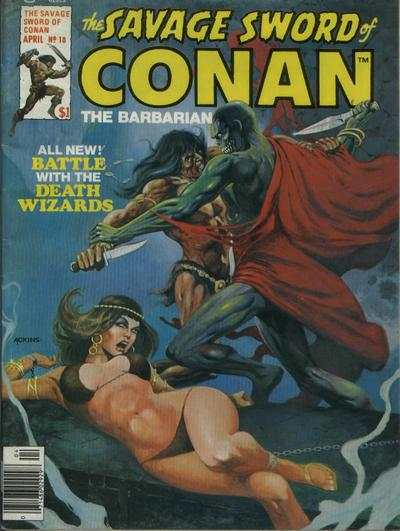 Savage Sword of Conan #18 comic books - cover scans photos Savage Sword of Conan #18 comic books - covers, picture gallery