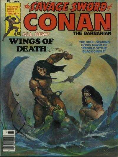 Savage Sword of Conan #19 comic books - cover scans photos Savage Sword of Conan #19 comic books - covers, picture gallery