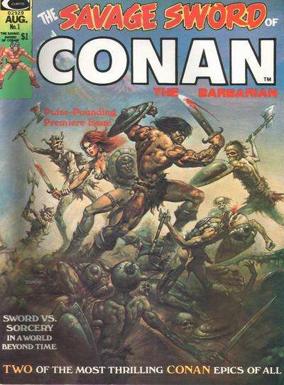 Savage Sword Conan comic books