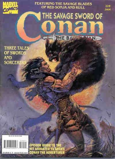 Savage Sword of Conan #229 Comic Books - Covers, Scans, Photos  in Savage Sword of Conan Comic Books - Covers, Scans, Gallery