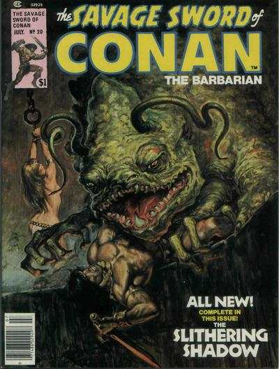 Savage Sword of Conan #20 comic books - cover scans photos Savage Sword of Conan #20 comic books - covers, picture gallery