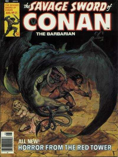 Savage Sword of Conan #21 comic books - cover scans photos Savage Sword of Conan #21 comic books - covers, picture gallery