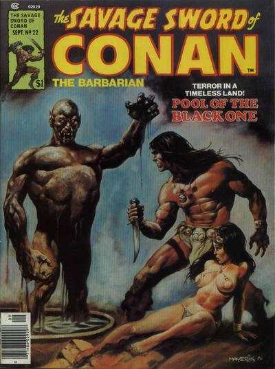 Savage Sword of Conan #22 comic books - cover scans photos Savage Sword of Conan #22 comic books - covers, picture gallery