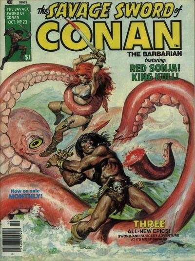 Savage Sword of Conan #23 comic books - cover scans photos Savage Sword of Conan #23 comic books - covers, picture gallery