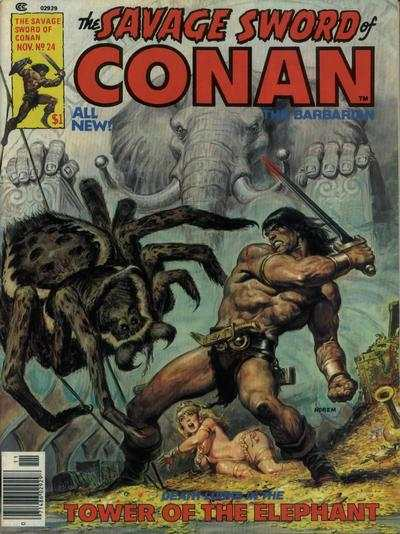Savage Sword of Conan #24 comic books - cover scans photos Savage Sword of Conan #24 comic books - covers, picture gallery