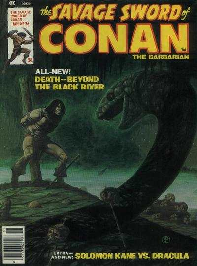 Savage Sword of Conan #26 comic books - cover scans photos Savage Sword of Conan #26 comic books - covers, picture gallery