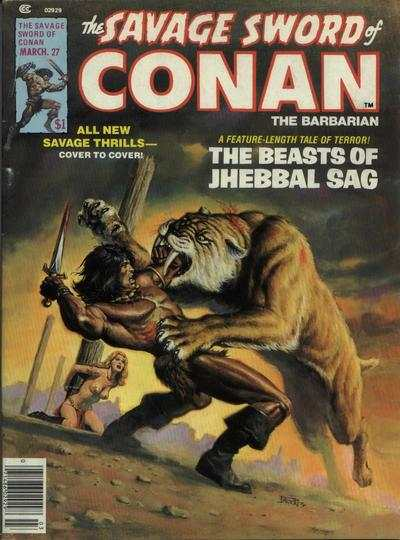 Savage Sword of Conan #27 comic books - cover scans photos Savage Sword of Conan #27 comic books - covers, picture gallery