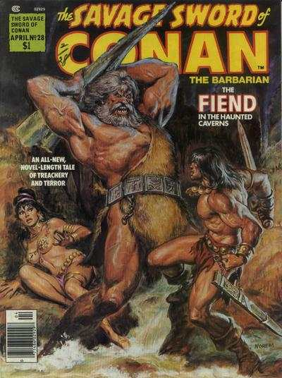 Savage Sword of Conan #28 comic books - cover scans photos Savage Sword of Conan #28 comic books - covers, picture gallery