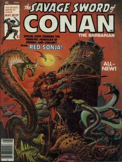 Savage Sword of Conan #29 comic books - cover scans photos Savage Sword of Conan #29 comic books - covers, picture gallery