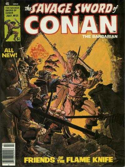 Savage Sword of Conan #31 comic books - cover scans photos Savage Sword of Conan #31 comic books - covers, picture gallery