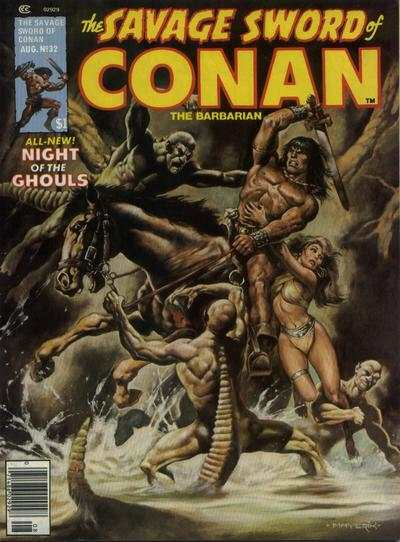 Savage Sword of Conan #32 comic books - cover scans photos Savage Sword of Conan #32 comic books - covers, picture gallery