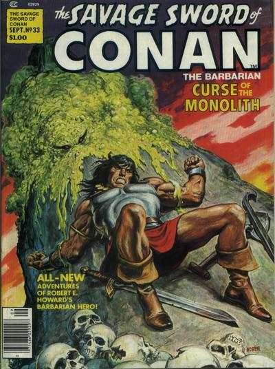 Savage Sword of Conan #33 comic books - cover scans photos Savage Sword of Conan #33 comic books - covers, picture gallery