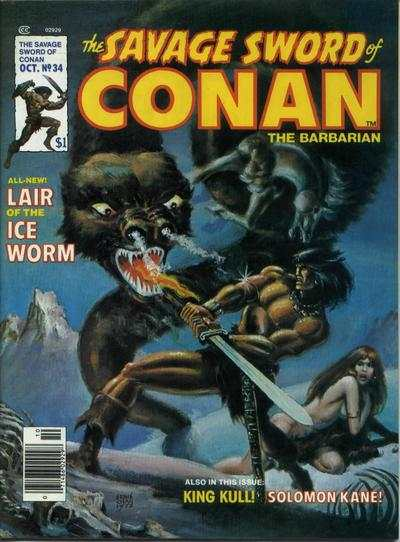 Savage Sword of Conan #34 comic books - cover scans photos Savage Sword of Conan #34 comic books - covers, picture gallery