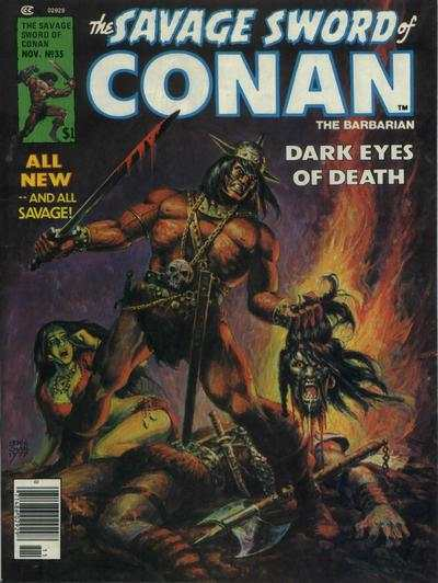 Savage Sword of Conan #35 comic books - cover scans photos Savage Sword of Conan #35 comic books - covers, picture gallery