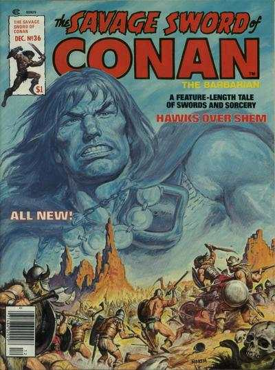 Savage Sword of Conan #36 comic books for sale