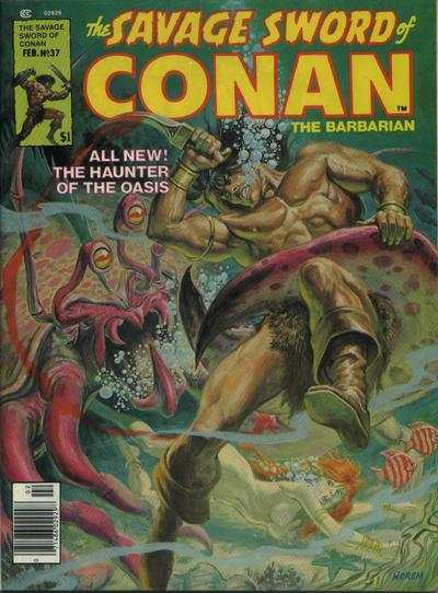 Savage Sword of Conan #37 comic books - cover scans photos Savage Sword of Conan #37 comic books - covers, picture gallery