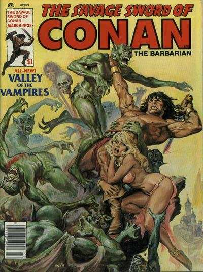 Savage Sword of Conan #38 comic books - cover scans photos Savage Sword of Conan #38 comic books - covers, picture gallery