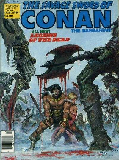 Savage Sword of Conan #39 comic books - cover scans photos Savage Sword of Conan #39 comic books - covers, picture gallery