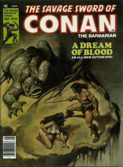 Savage Sword of Conan #40 comic books - cover scans photos Savage Sword of Conan #40 comic books - covers, picture gallery