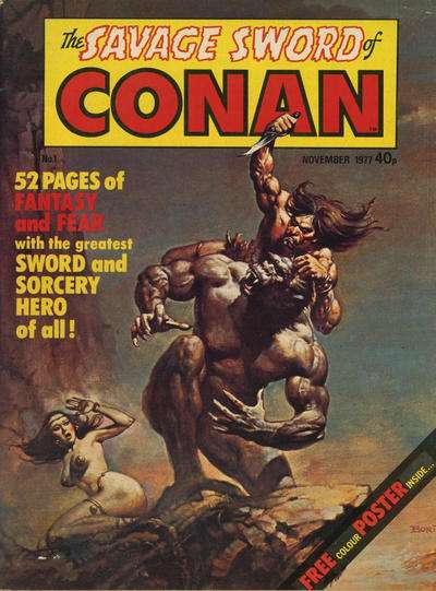 Savage Sword of Conan Comic Books. Savage Sword of Conan Comics.